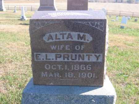 PRUNTY, ALTA M - Tazewell County, Illinois | ALTA M PRUNTY - Illinois Gravestone Photos