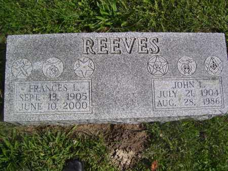 REEVES, FRANCES L - Tazewell County, Illinois | FRANCES L REEVES - Illinois Gravestone Photos
