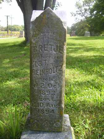 REINHOLTZ, BRETJE - Tazewell County, Illinois | BRETJE REINHOLTZ - Illinois Gravestone Photos