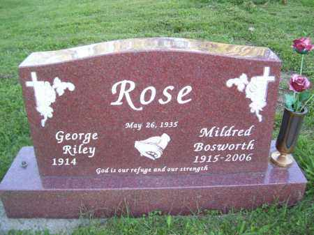 ROSE, MILDRED BOSWORTH - Tazewell County, Illinois | MILDRED BOSWORTH ROSE - Illinois Gravestone Photos