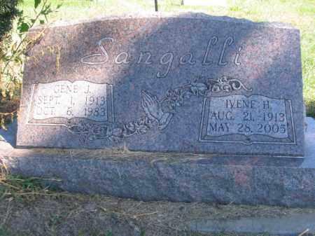 SANGALLI, IVENE - Tazewell County, Illinois | IVENE SANGALLI - Illinois Gravestone Photos