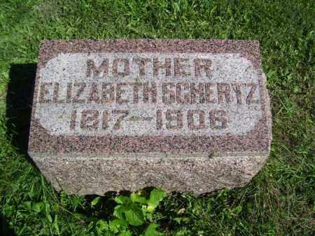SCHERTZ, ELIZABETH - Tazewell County, Illinois | ELIZABETH SCHERTZ - Illinois Gravestone Photos
