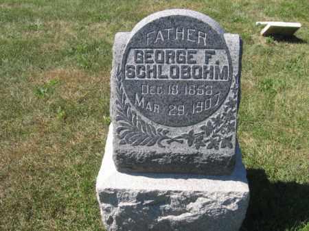 SCHLOBOHM, GEORGE - Tazewell County, Illinois | GEORGE SCHLOBOHM - Illinois Gravestone Photos