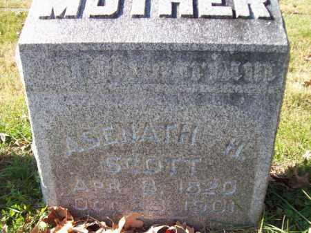 SCOTT, ASENATH H - Tazewell County, Illinois | ASENATH H SCOTT - Illinois Gravestone Photos