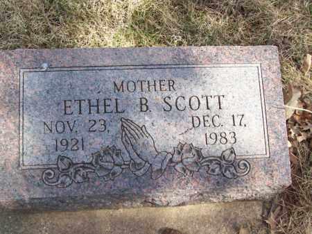 SCOTT, ETHEL B - Tazewell County, Illinois   ETHEL B SCOTT - Illinois Gravestone Photos