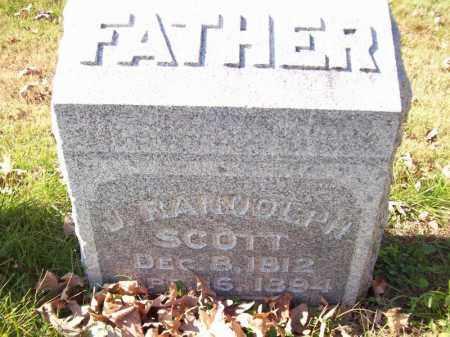 SCOTT, J RANDOLPH - Tazewell County, Illinois | J RANDOLPH SCOTT - Illinois Gravestone Photos