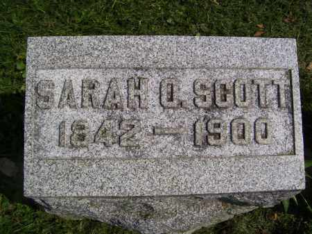 SCOTT, SARAH O - Tazewell County, Illinois | SARAH O SCOTT - Illinois Gravestone Photos
