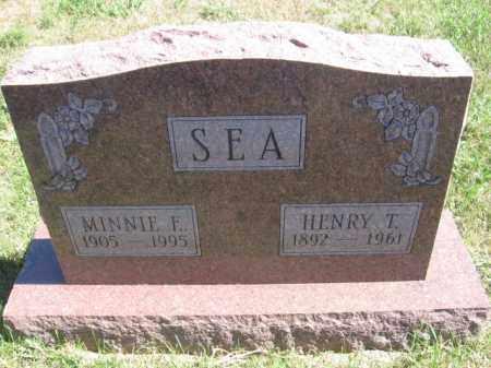 SEA, MINNIE F - Tazewell County, Illinois | MINNIE F SEA - Illinois Gravestone Photos