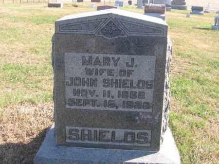 SHIELDS, MARY J - Tazewell County, Illinois   MARY J SHIELDS - Illinois Gravestone Photos