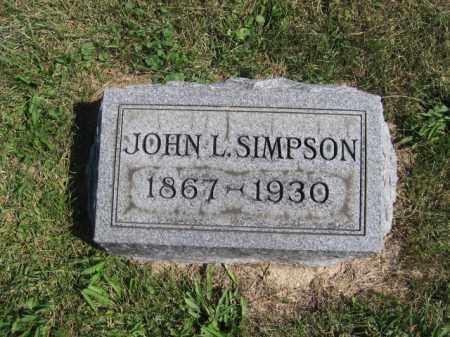 SIMPSON, JOHN L - Tazewell County, Illinois | JOHN L SIMPSON - Illinois Gravestone Photos