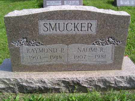 SMUCKER, NAOMI R - Tazewell County, Illinois | NAOMI R SMUCKER - Illinois Gravestone Photos