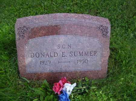 SUMMER, DONALD E - Tazewell County, Illinois   DONALD E SUMMER - Illinois Gravestone Photos