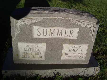 SUMMER, JOHN J - Tazewell County, Illinois | JOHN J SUMMER - Illinois Gravestone Photos