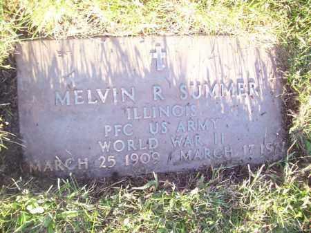 SUMMER, MELVIN R - Tazewell County, Illinois | MELVIN R SUMMER - Illinois Gravestone Photos