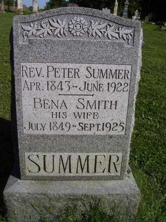 SUMMER, REV. PETER - Tazewell County, Illinois | REV. PETER SUMMER - Illinois Gravestone Photos