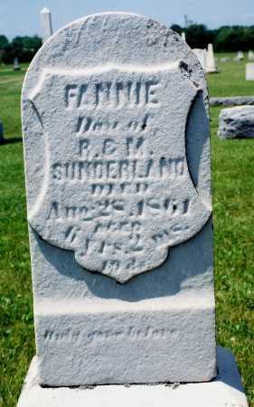 "SUNDERLAND, FRANCIS JANE ""FANNIE"" - Tazewell County, Illinois | FRANCIS JANE ""FANNIE"" SUNDERLAND - Illinois Gravestone Photos"