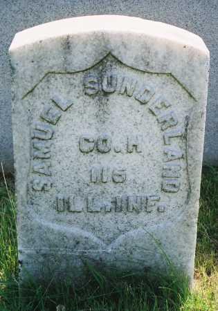 SUNDERLAND, SAMUEL - Tazewell County, Illinois   SAMUEL SUNDERLAND - Illinois Gravestone Photos