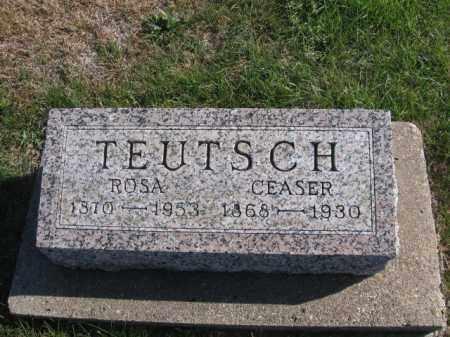 TEUTSCH, CEASER - Tazewell County, Illinois | CEASER TEUTSCH - Illinois Gravestone Photos