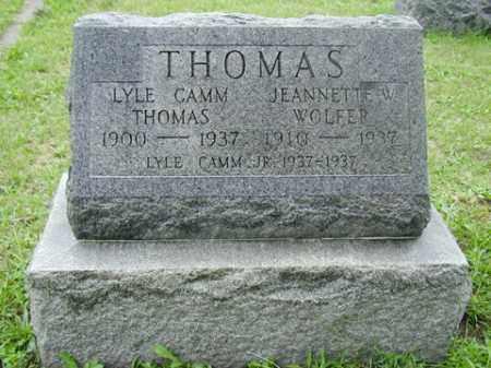 THOMAS, JEANETTE W - Tazewell County, Illinois | JEANETTE W THOMAS - Illinois Gravestone Photos