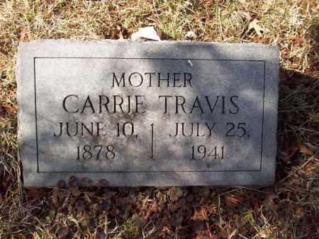 TRAVIS, CARRIE - Tazewell County, Illinois | CARRIE TRAVIS - Illinois Gravestone Photos