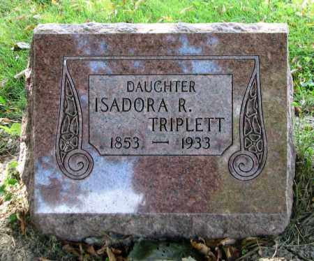 TRIPLETT, ISADORA R - Tazewell County, Illinois | ISADORA R TRIPLETT - Illinois Gravestone Photos