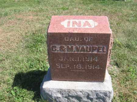 VAUPEL, INA - Tazewell County, Illinois | INA VAUPEL - Illinois Gravestone Photos