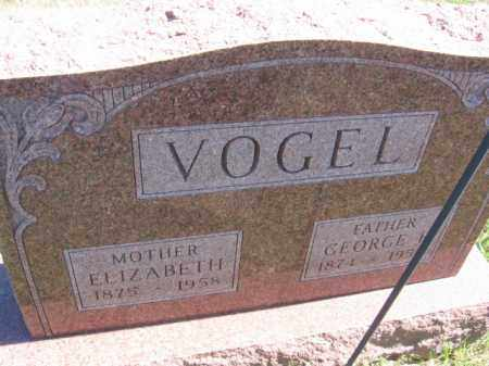 VOGEL, ELIZABETH - Tazewell County, Illinois | ELIZABETH VOGEL - Illinois Gravestone Photos