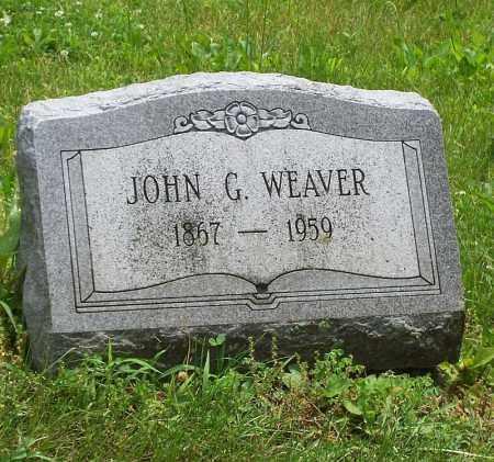 WEAVER, JOHN G - Tazewell County, Illinois | JOHN G WEAVER - Illinois Gravestone Photos