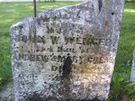CRESS WENGER, MARY E - Tazewell County, Illinois | MARY E CRESS WENGER - Illinois Gravestone Photos