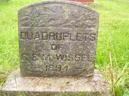 WISSEL, QUADRUPLETS - Tazewell County, Illinois | QUADRUPLETS WISSEL - Illinois Gravestone Photos
