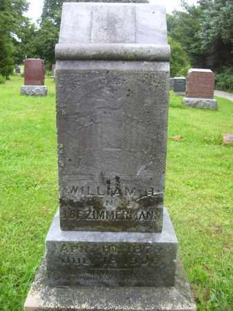 ZIMMERMAN, WILLIAM H - Tazewell County, Illinois | WILLIAM H ZIMMERMAN - Illinois Gravestone Photos