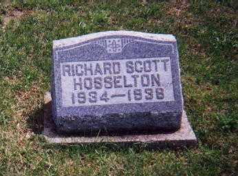 HOSSELTON, RICHARD SCOTT - Wayne County, Illinois   RICHARD SCOTT HOSSELTON - Illinois Gravestone Photos