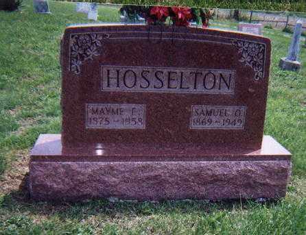 HOSSELTON, MAYME ELLEN - Wayne County, Illinois | MAYME ELLEN HOSSELTON - Illinois Gravestone Photos