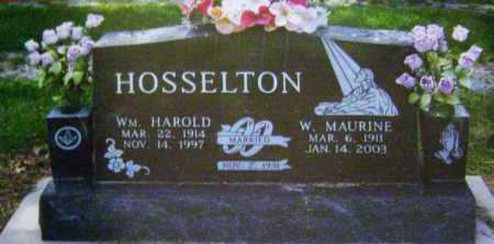 MOLT HOSSELTON, W. MAURINE - Wayne County, Illinois | W. MAURINE MOLT HOSSELTON - Illinois Gravestone Photos
