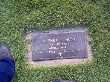HUNT, ARTHUR B - Wayne County, Illinois   ARTHUR B HUNT - Illinois Gravestone Photos