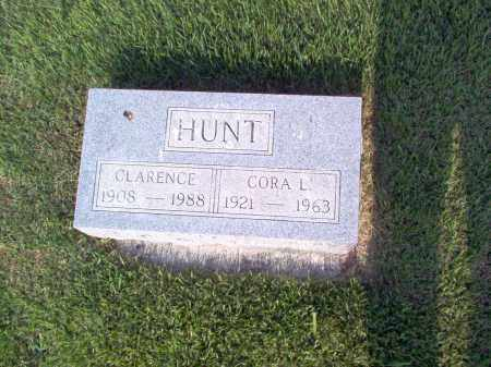 HUNT, CLARENCE - Wayne County, Illinois | CLARENCE HUNT - Illinois Gravestone Photos
