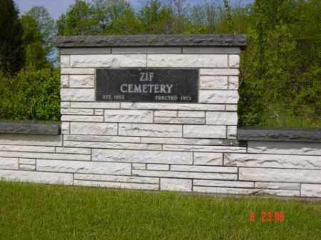ZIF CEMETERY, ENTRANCE - Wayne County, Illinois | ENTRANCE ZIF CEMETERY - Illinois Gravestone Photos