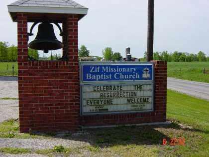 ZIF MISSIONARY BAPTIST, CHURCH - Wayne County, Illinois | CHURCH ZIF MISSIONARY BAPTIST - Illinois Gravestone Photos