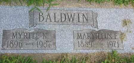 BALDWIN, MYRTLE - Whiteside County, Illinois | MYRTLE BALDWIN - Illinois Gravestone Photos