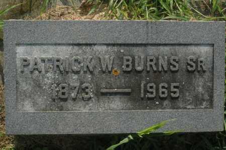 BURNS, PATRICK W. - Whiteside County, Illinois   PATRICK W. BURNS - Illinois Gravestone Photos