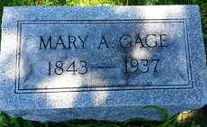 GAGE, MARY - Whiteside County, Illinois | MARY GAGE - Illinois Gravestone Photos