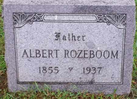 ROZEBOOM, ALBERT - Whiteside County, Illinois   ALBERT ROZEBOOM - Illinois Gravestone Photos