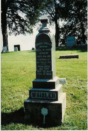WHISLER, MALINDA - Whiteside County, Illinois   MALINDA WHISLER - Illinois Gravestone Photos