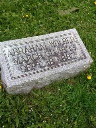 WOLBER, ABRAHAM SR. - Whiteside County, Illinois | ABRAHAM SR. WOLBER - Illinois Gravestone Photos