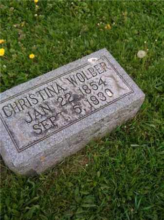 WOLBER, CHRISTINA - Whiteside County, Illinois | CHRISTINA WOLBER - Illinois Gravestone Photos