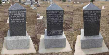 HYLAND, CAROLINE - Will County, Illinois   CAROLINE HYLAND - Illinois Gravestone Photos