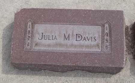 DAVIS, JULIA M. - Will County, Illinois   JULIA M. DAVIS - Illinois Gravestone Photos