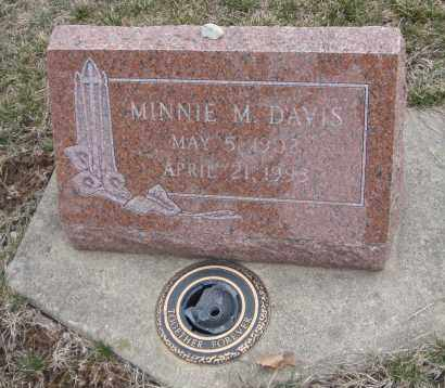 DAVIS, MINNIE M, - Will County, Illinois | MINNIE M, DAVIS - Illinois Gravestone Photos