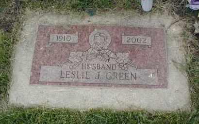 GREEN, LESLIE J. - Will County, Illinois   LESLIE J. GREEN - Illinois Gravestone Photos