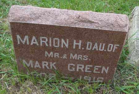 GREEN, MARION H. - Will County, Illinois | MARION H. GREEN - Illinois Gravestone Photos